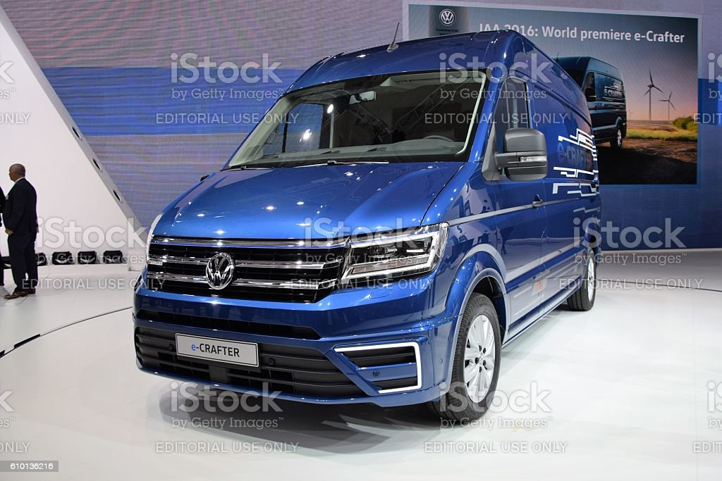 Premiere of Volkswagen e-Crafter stock photo