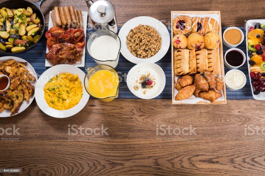 Premium Breakfast Buffet stock photo