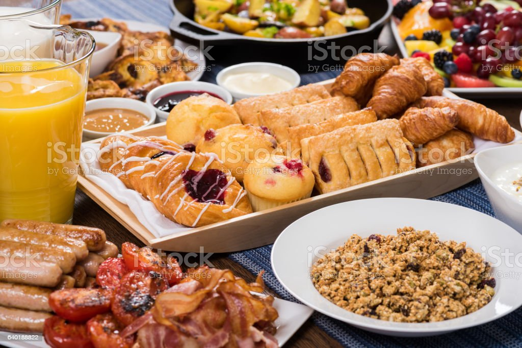 Premium Breakfast Buffet stock photo