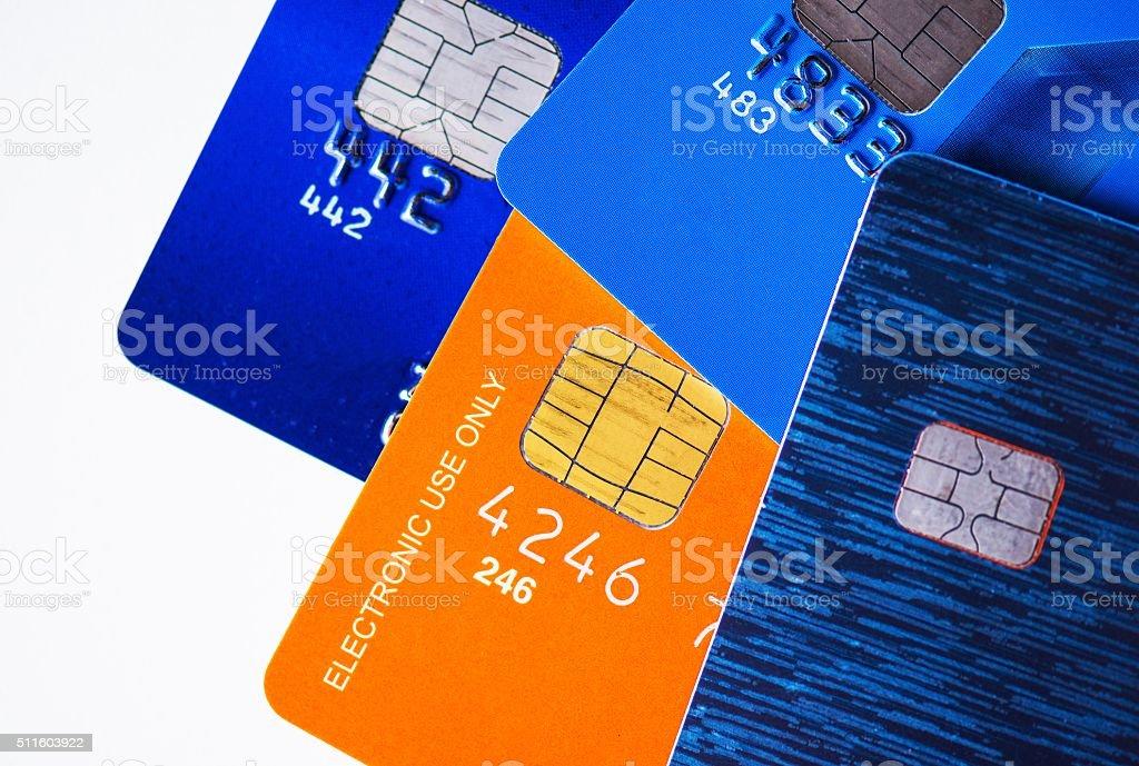 Premium Credit Cards stock photo