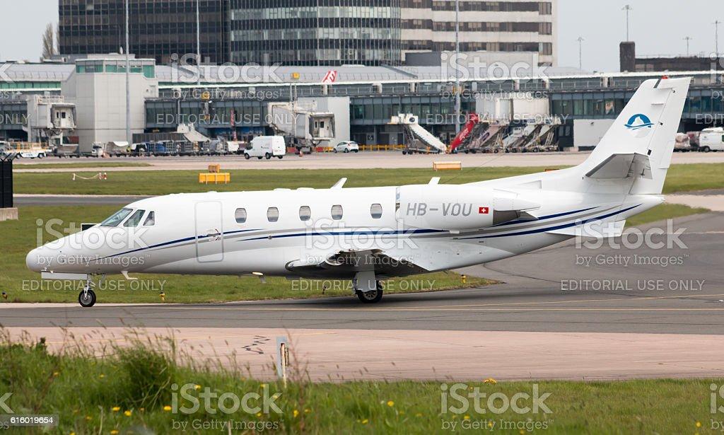 Premium Jet Cessna Citation Excel stock photo