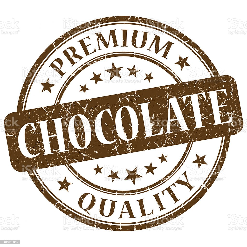premium quality chocolate brown stamp royalty-free stock photo
