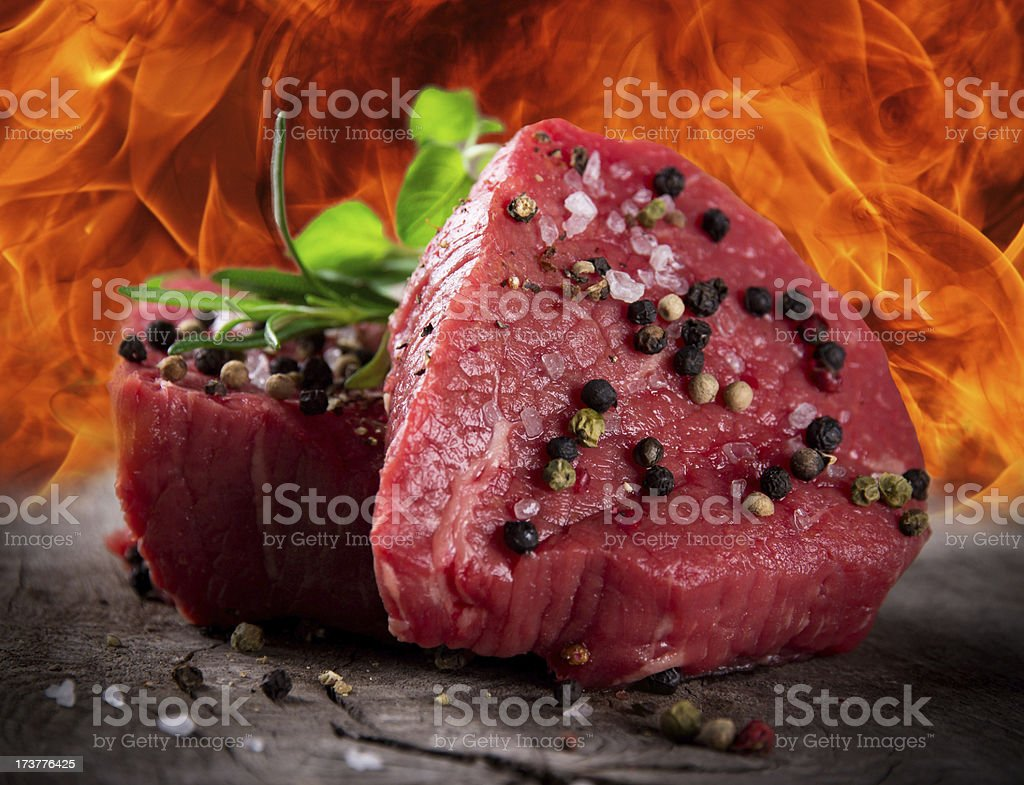 Premium Raw beef sirloin royalty-free stock photo
