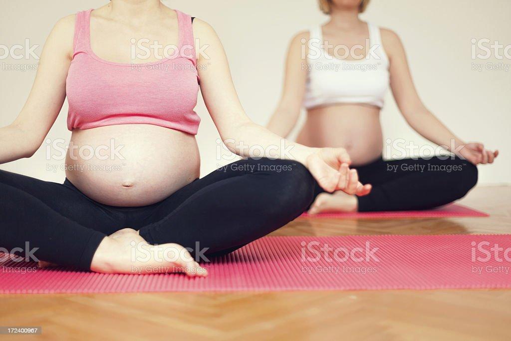 Prenatal exercise royalty-free stock photo