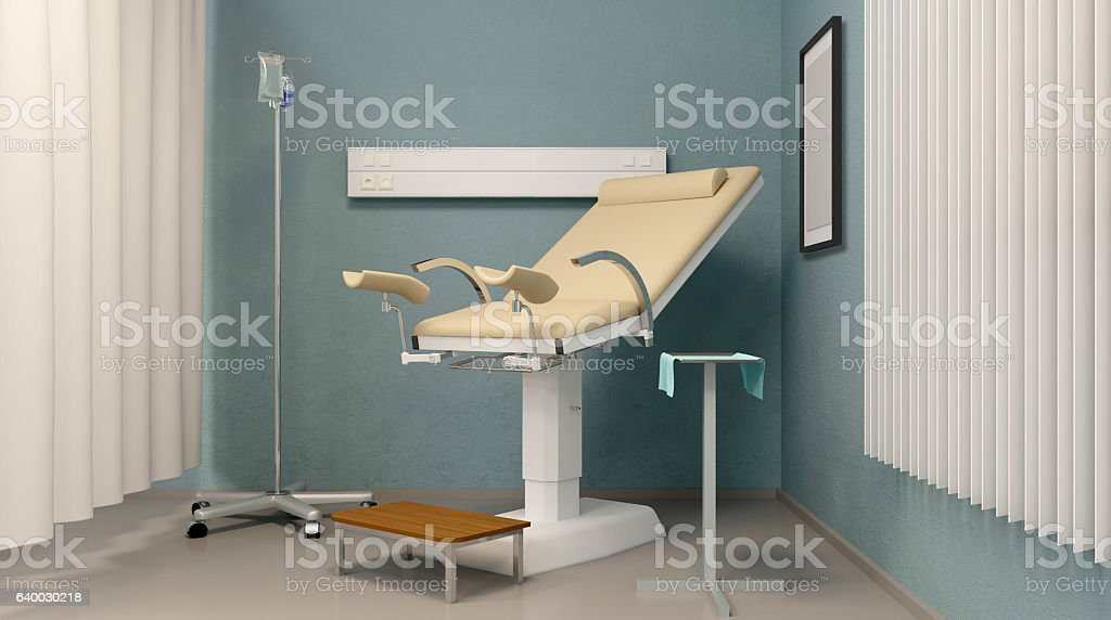 Prenatal room. Hospital. 3D rendering stock photo