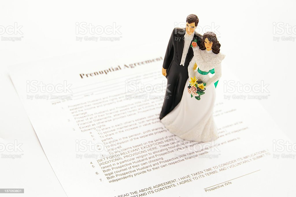 prenuptial agreement royalty-free stock photo
