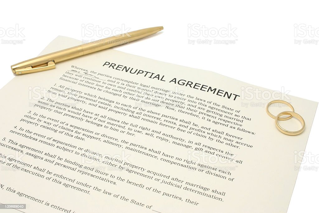 Prenuptial Agreement Stock Photo   Istock