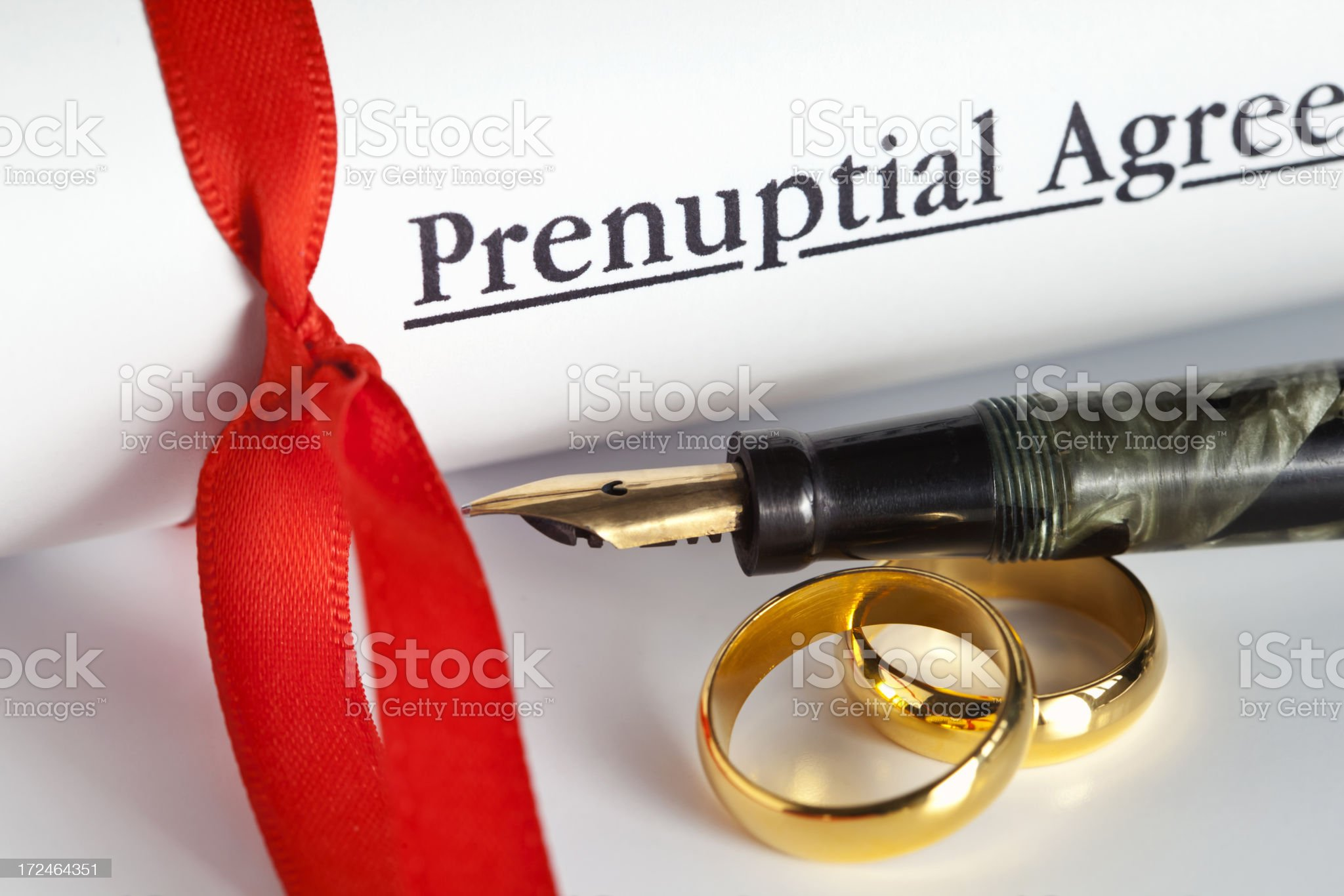 Prenuptial Agreement royalty-free stock photo