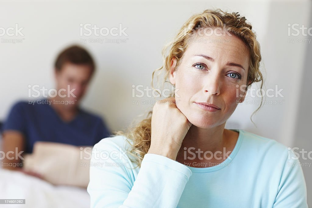 Preoccupied with something - Copyspace stock photo