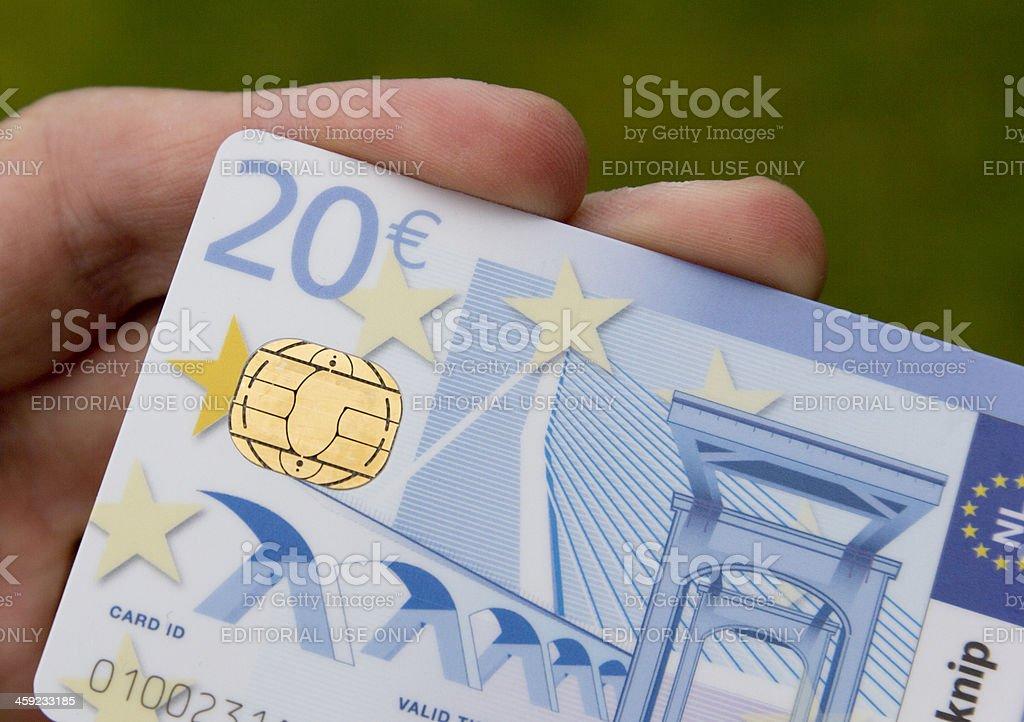 Prepaid smartcard technology - Chipknip stock photo