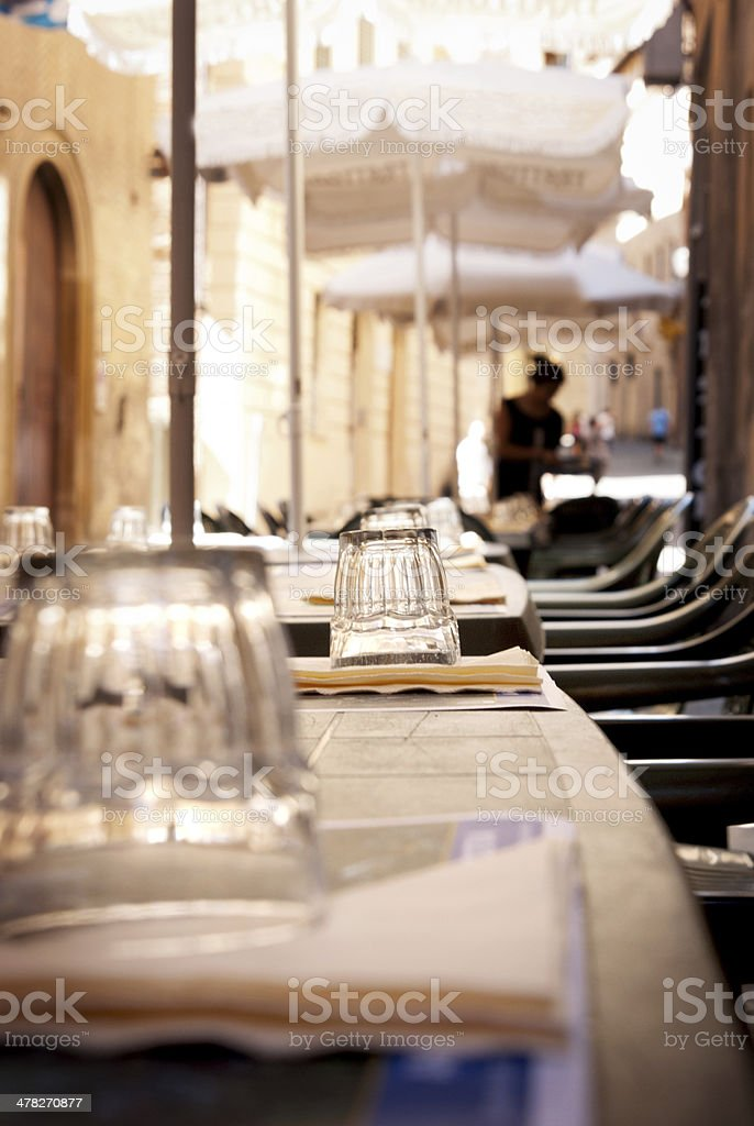 Preparation dining table royalty-free stock photo