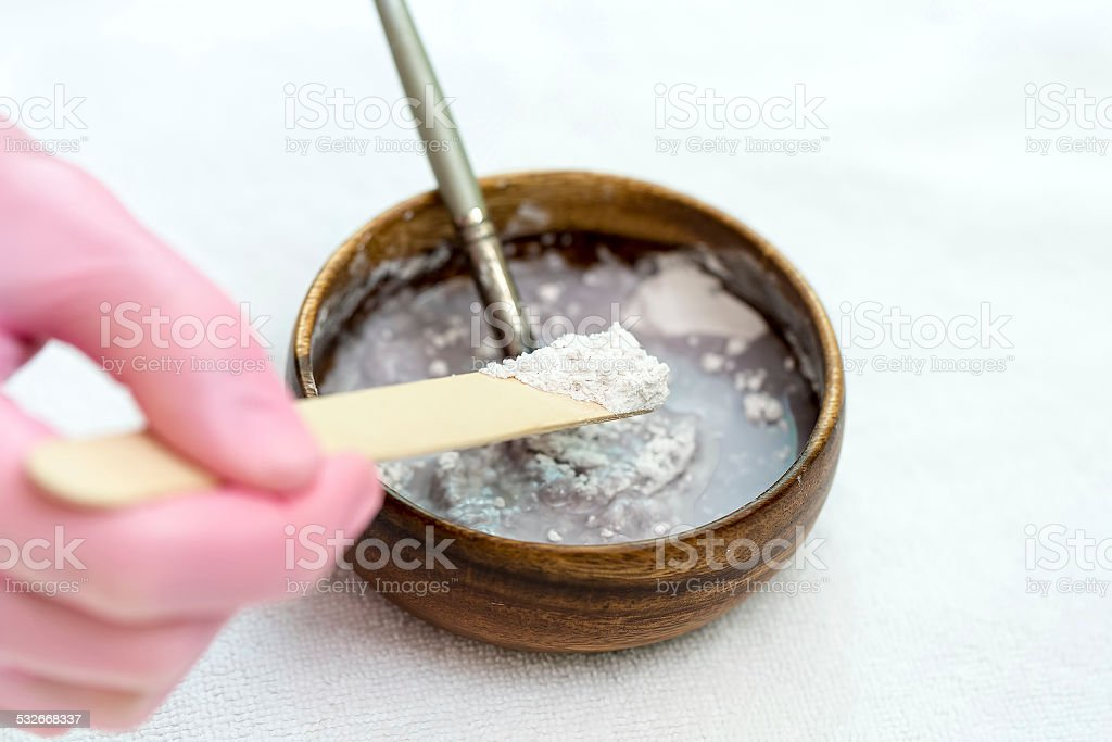 Preparation Face Mask stock photo