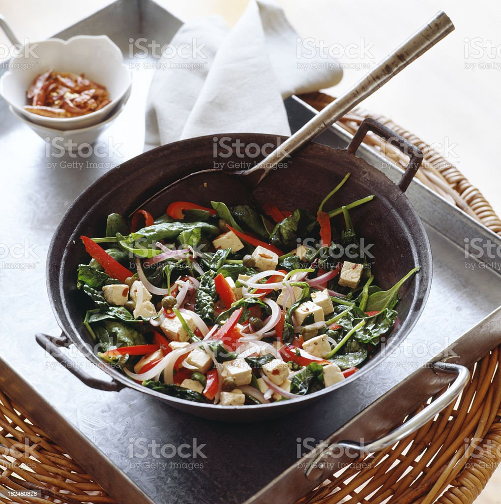 Preparation for Chineese stir fry. royalty-free stock photo