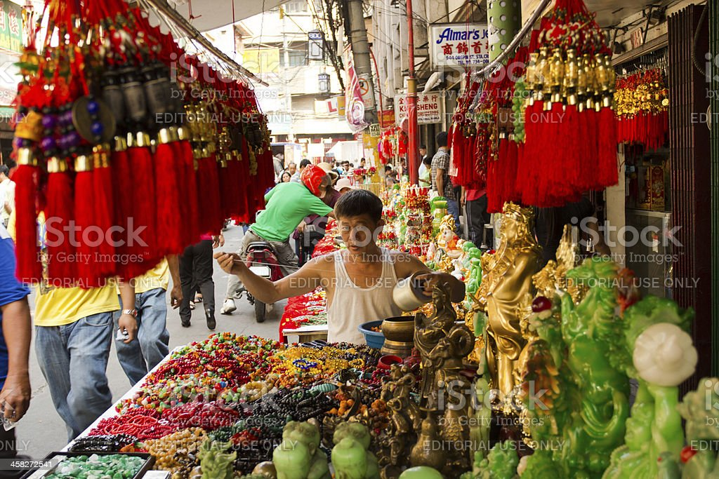 Preparation for Chinese new year stock photo