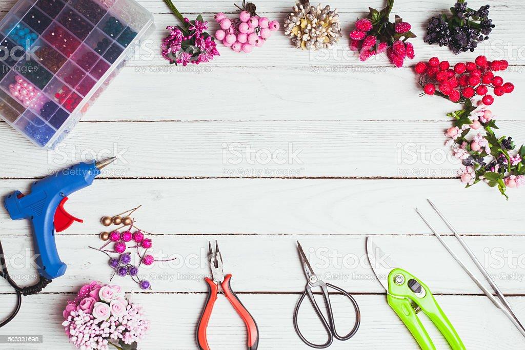 Preparation for handmading stock photo