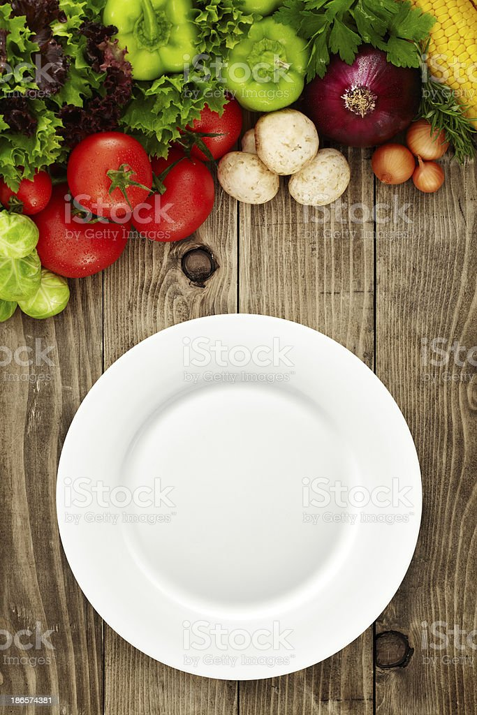 Preparation for healthy dining royalty-free stock photo