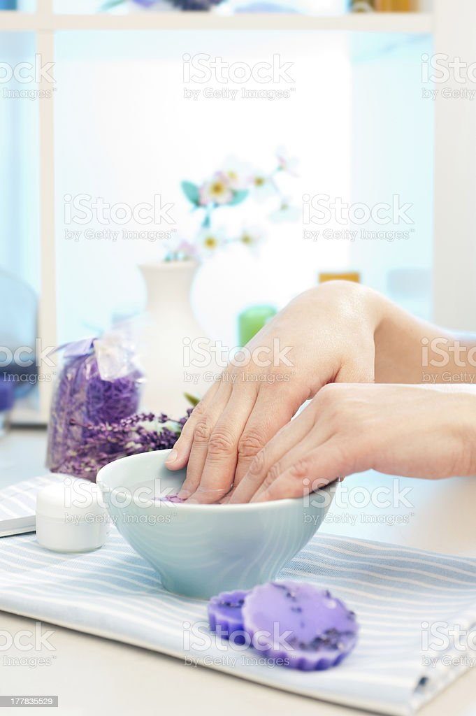 Preparation for manicure stock photo