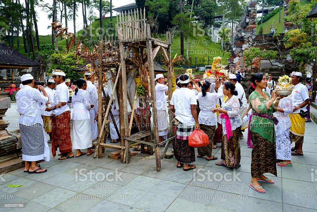Preparation for praying during religious ceremony. stock photo