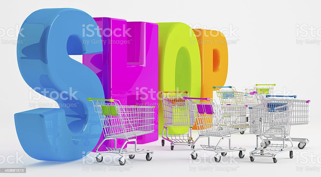 Preparation for Shopping royalty-free stock photo