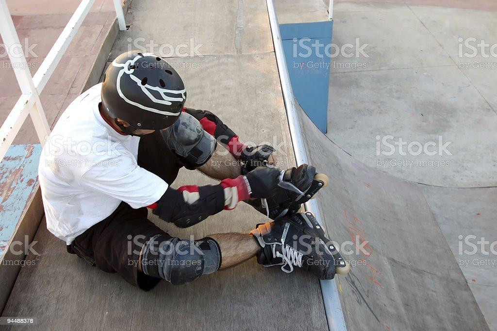 Preparation for Skating royalty-free stock photo