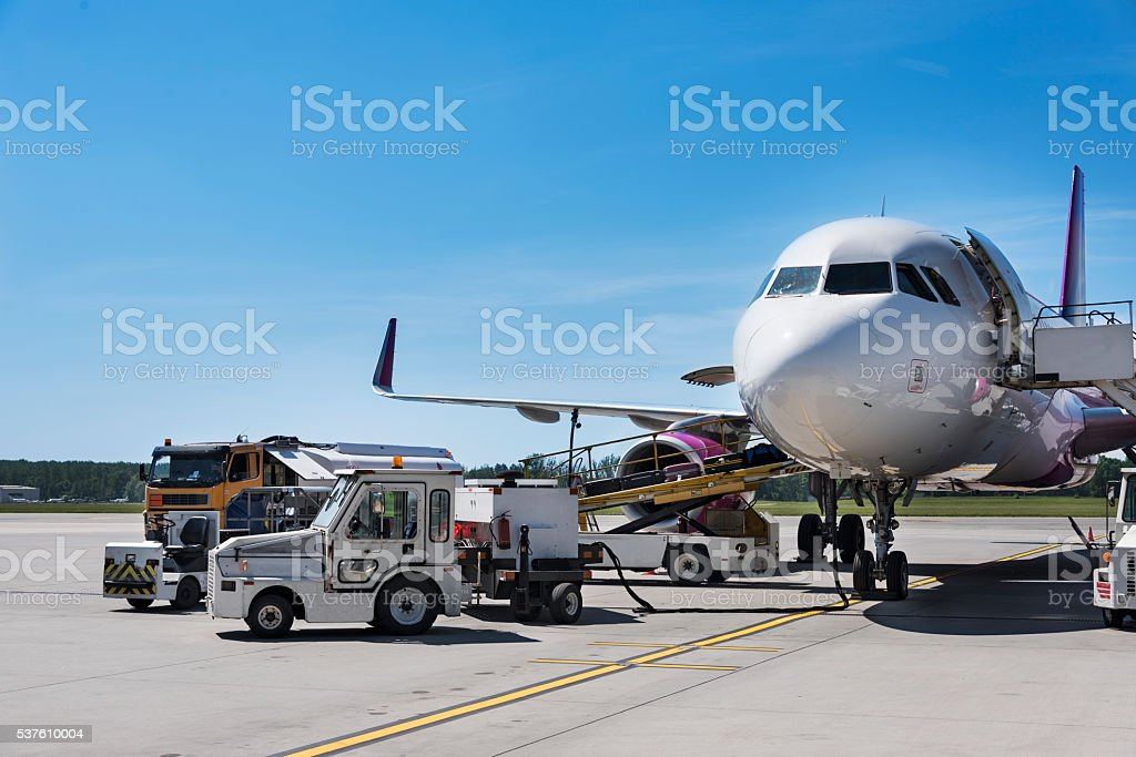 Preparation for Take Off stock photo
