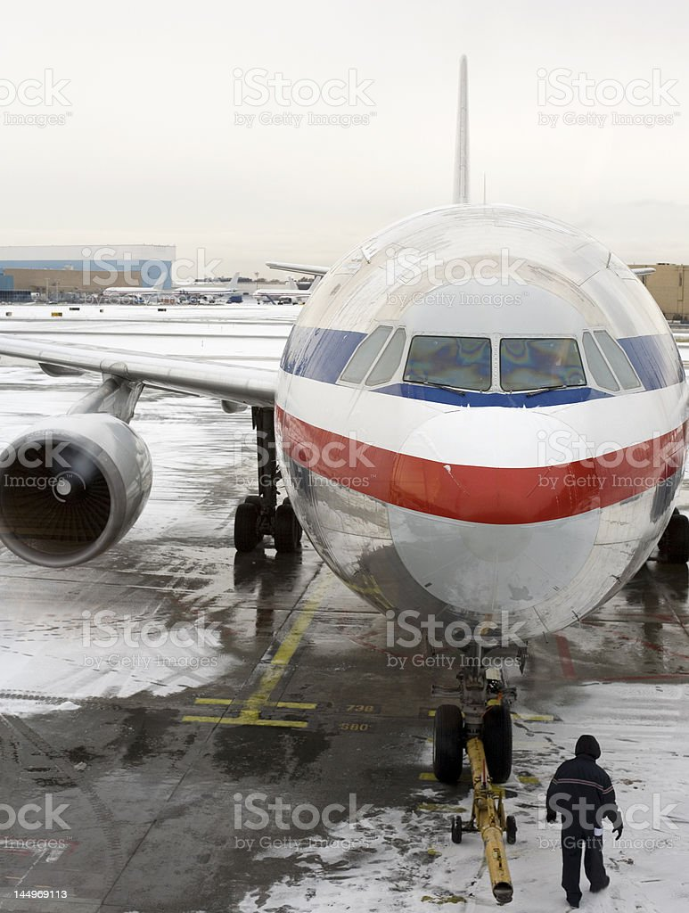 Preparation for the flight royalty-free stock photo