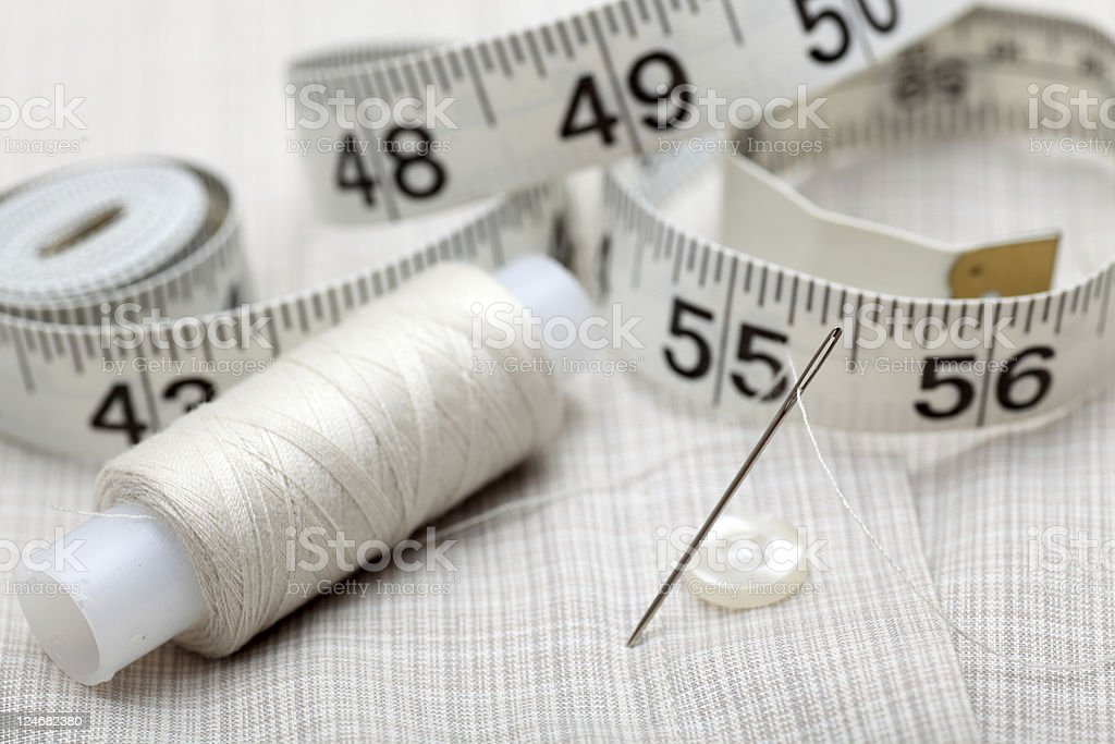 Preparation for the sewing stock photo