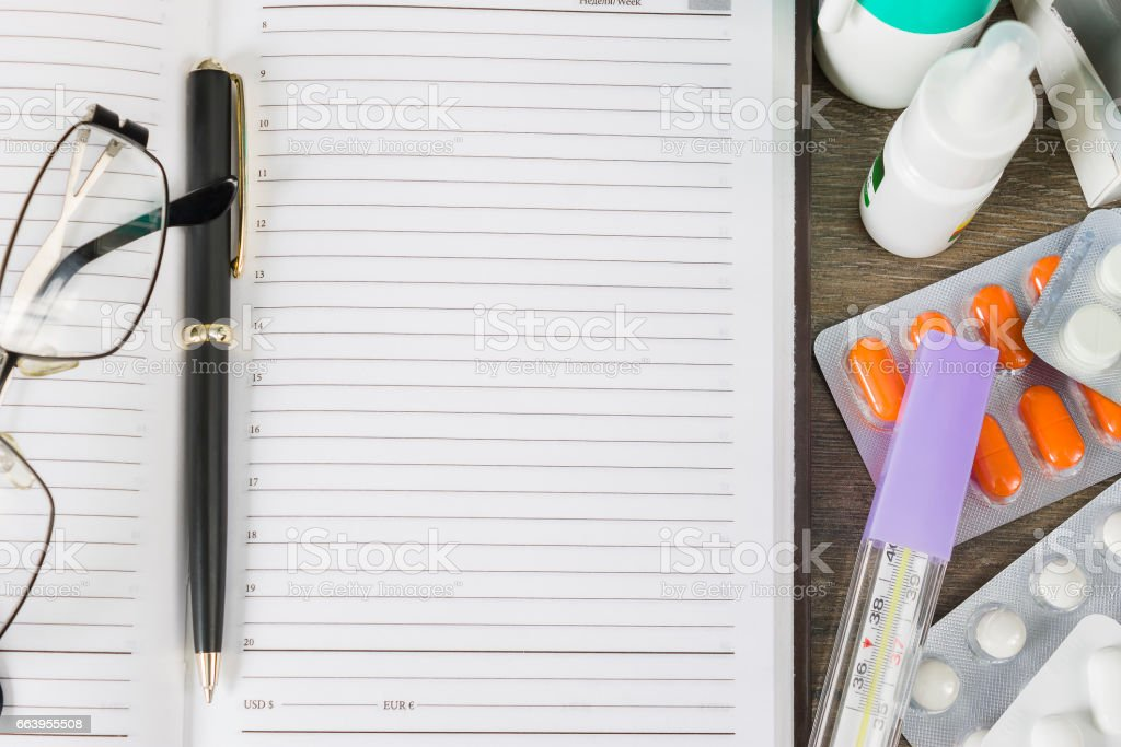 Preparation of a medical prescription stock photo