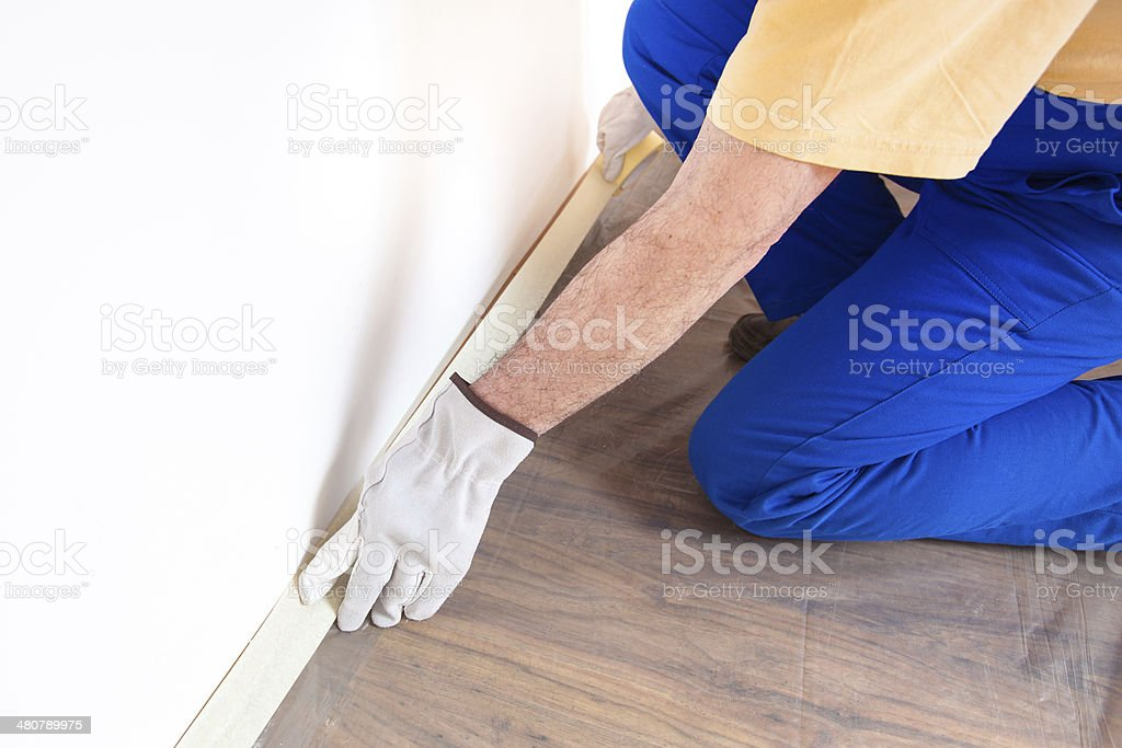Preparation of Room For Painting stock photo