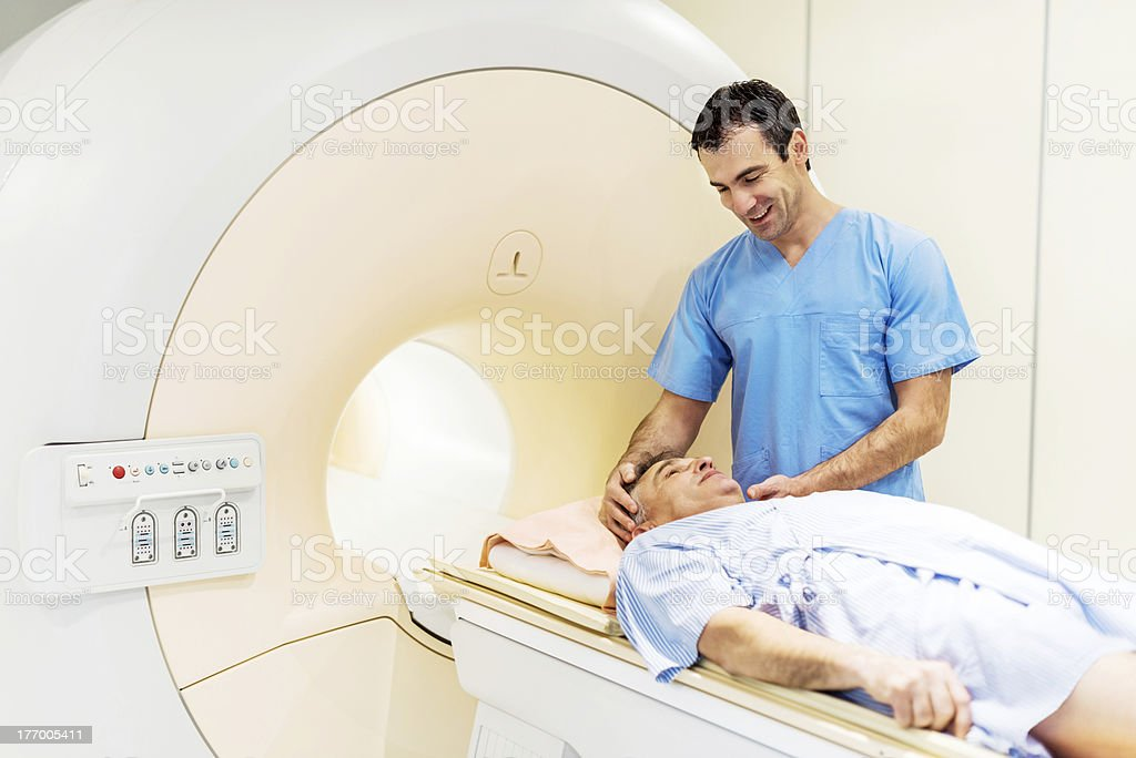 Preparation of the patient. royalty-free stock photo