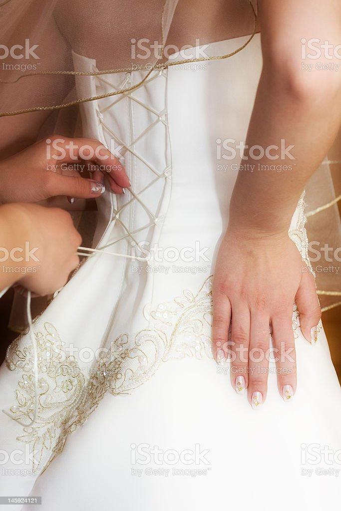 preparation to wedding royalty-free stock photo
