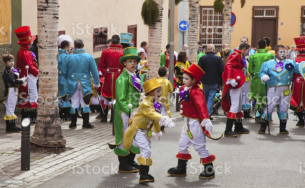 Preparations for carvival parade in Santa Cruz de Tenerife stock photo