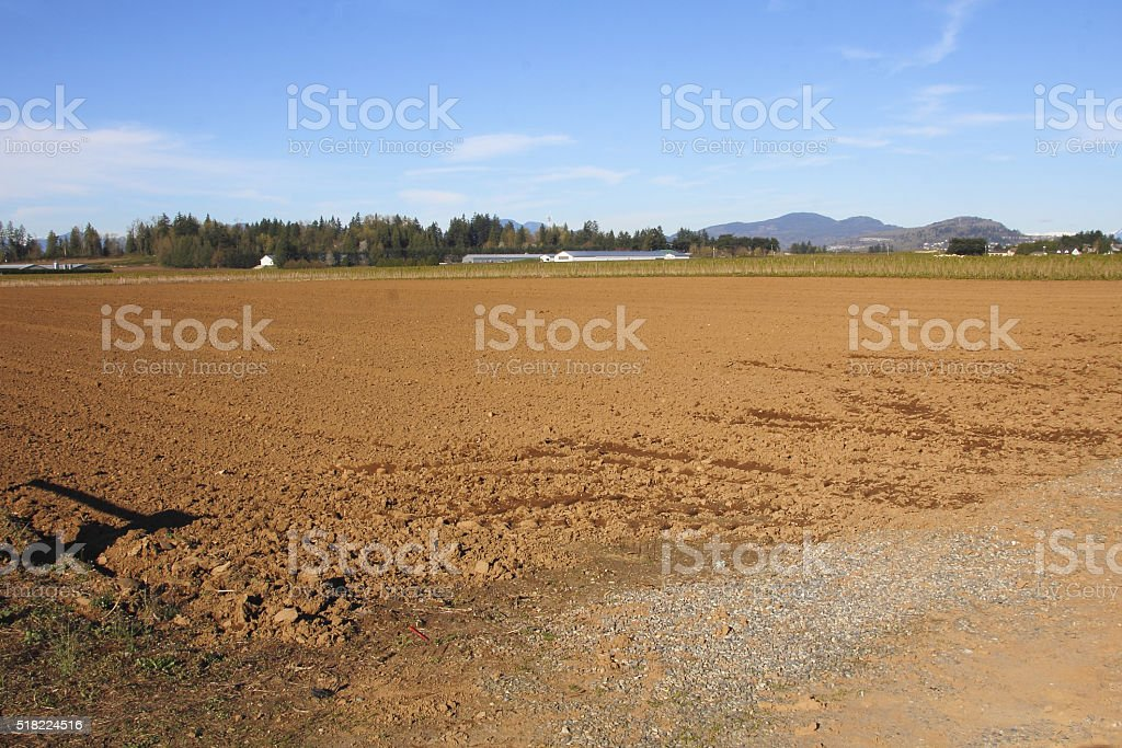 Preparations for Planting Crops stock photo
