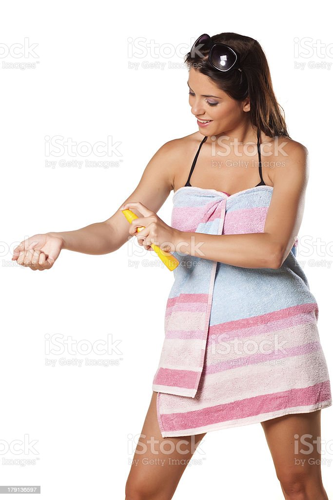 preparations for tanning royalty-free stock photo