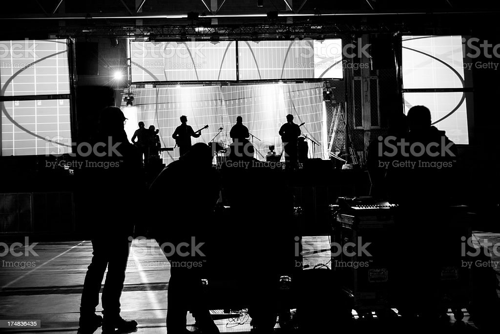 Preparations of the concert royalty-free stock photo