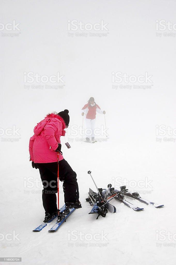 preparative for ski royalty-free stock photo