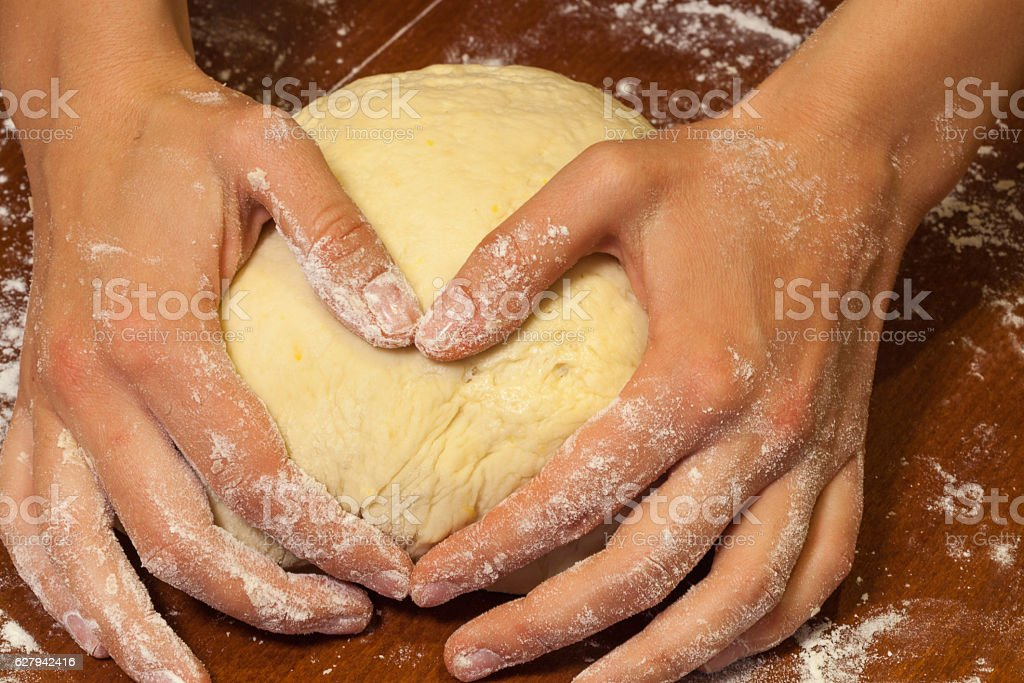 Prepare baking 'from the heart', Russia stock photo