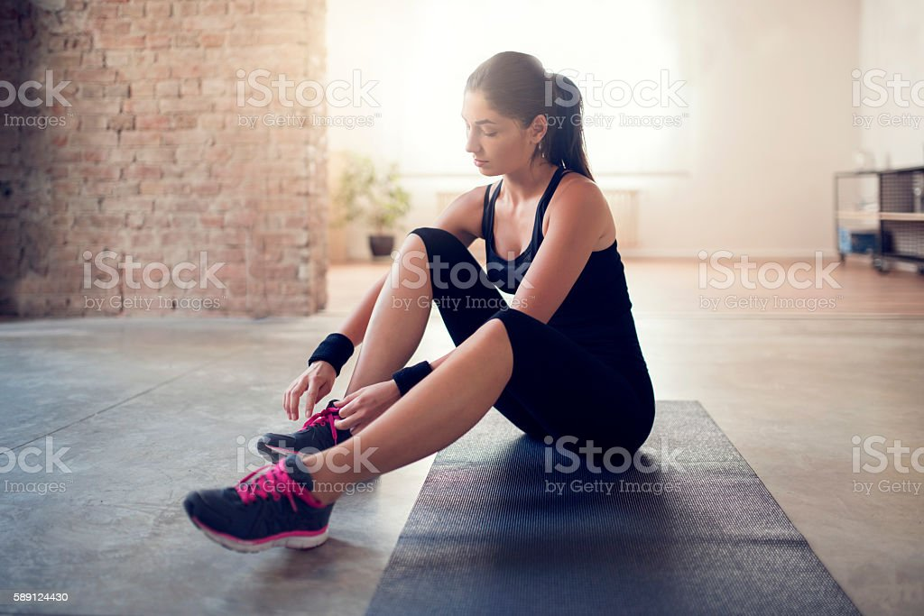 Prepare for workout stock photo