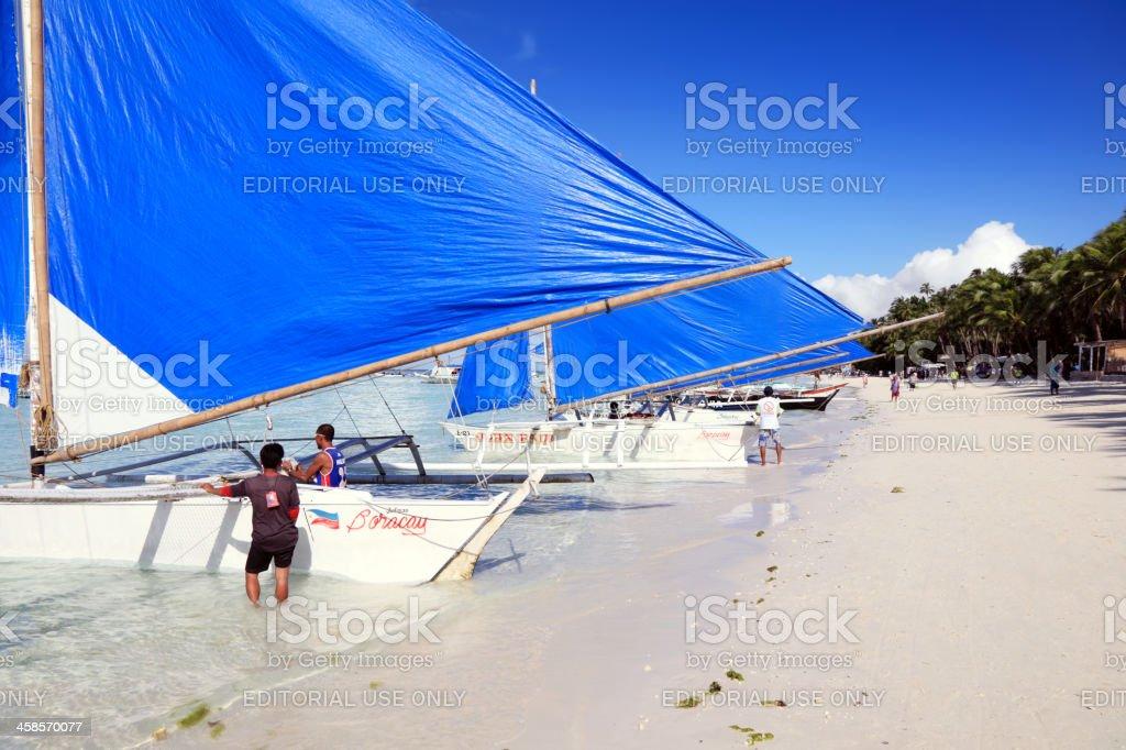 Prepare to sailing stock photo