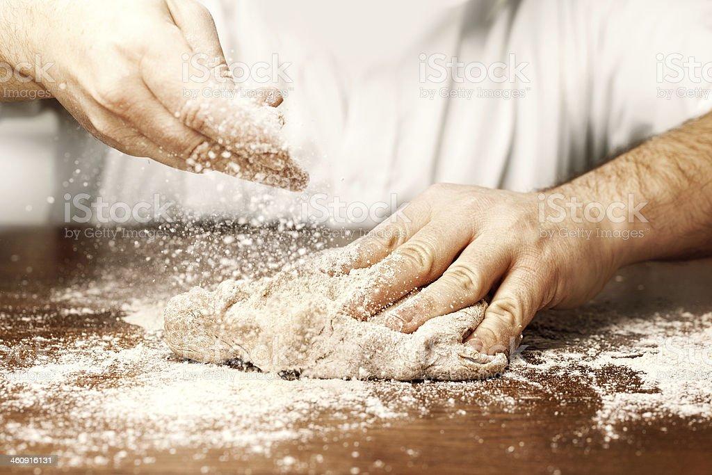 prepare yeast dough stock photo