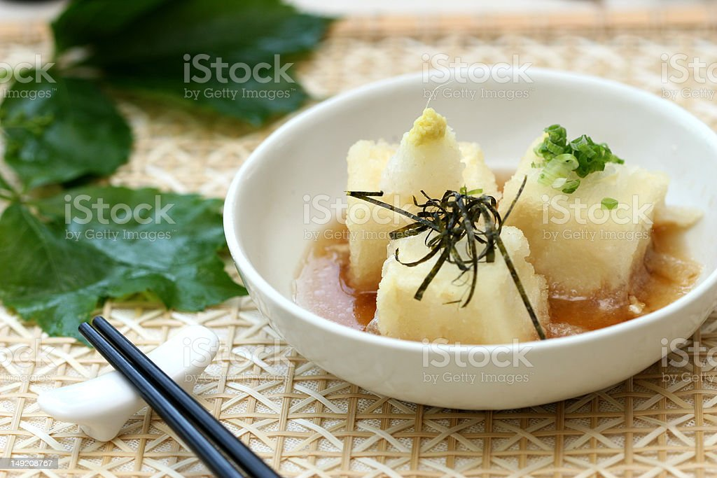 prepared and delicious sushi tofu royalty-free stock photo