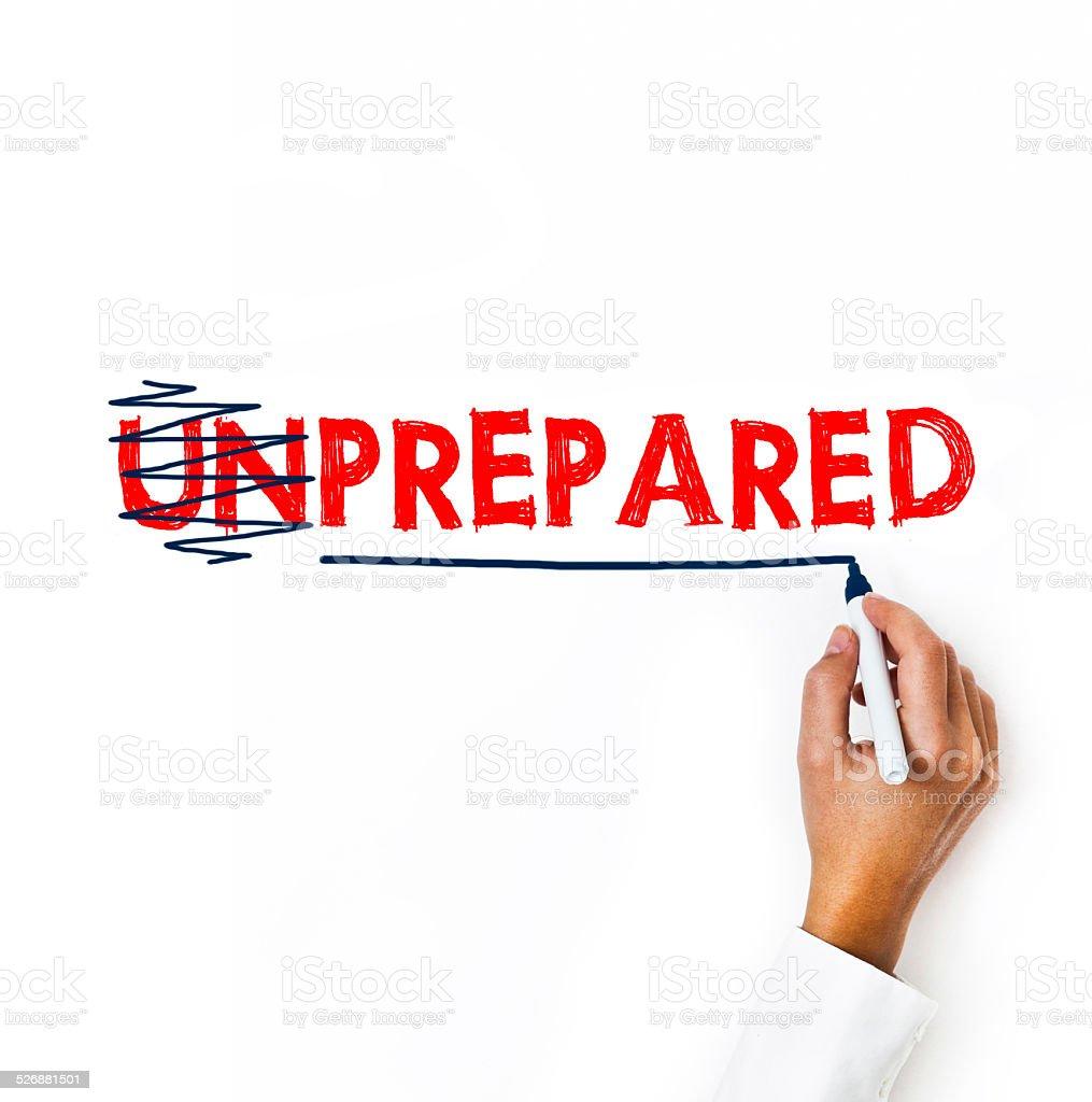 Prepared and Unprepared / Felt tip pen (Click for more) stock photo