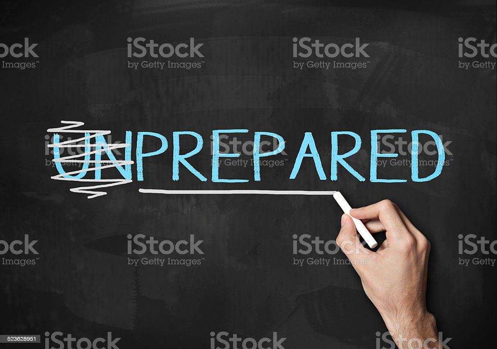Prepared and Unprepared (Click for more) stock photo