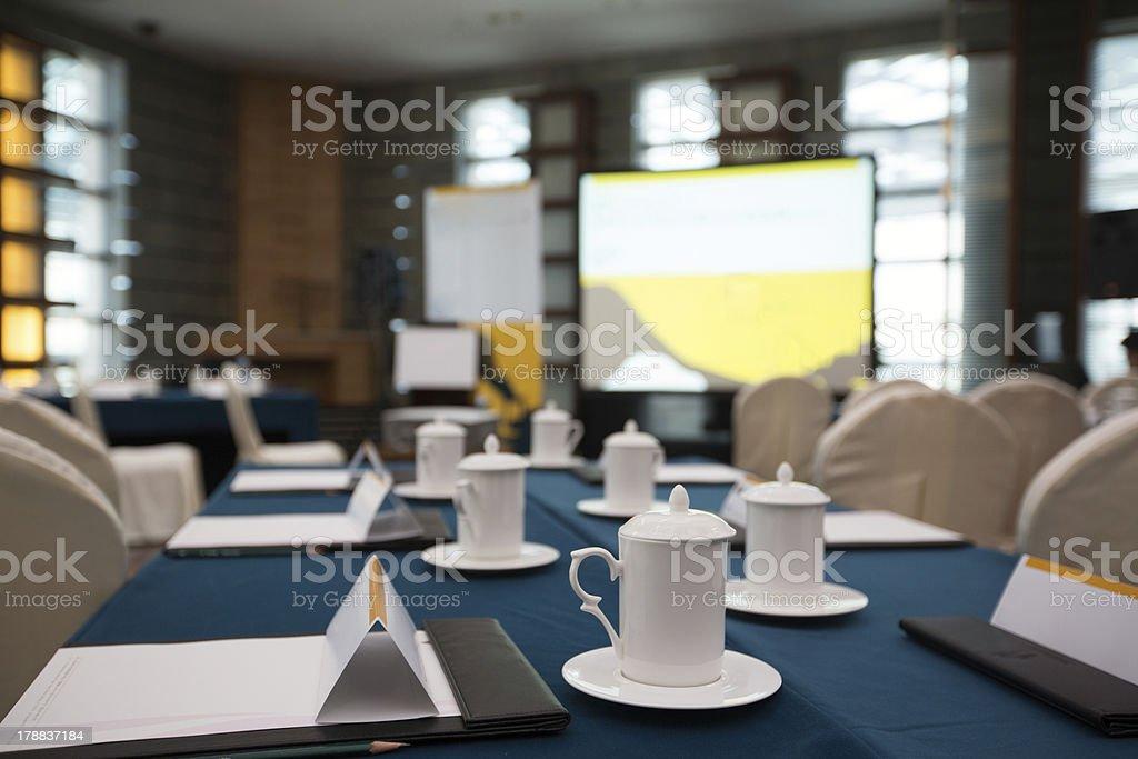 prepared boardroom royalty-free stock photo