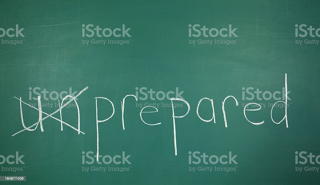 Prepared Concept Chalk Drawing royalty-free stock photo