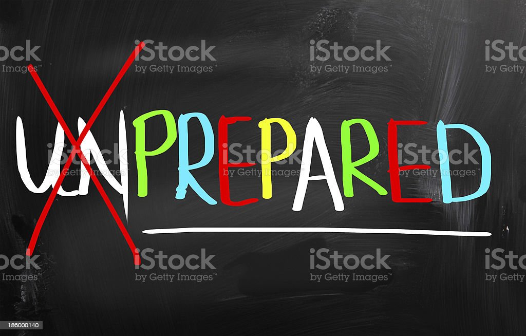 Prepared Concept royalty-free stock photo