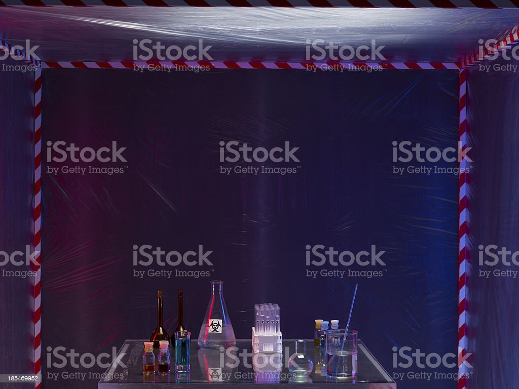 prepared equipment for experimenting in the lab royalty-free stock photo