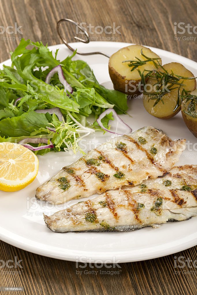 Prepared Fish royalty-free stock photo