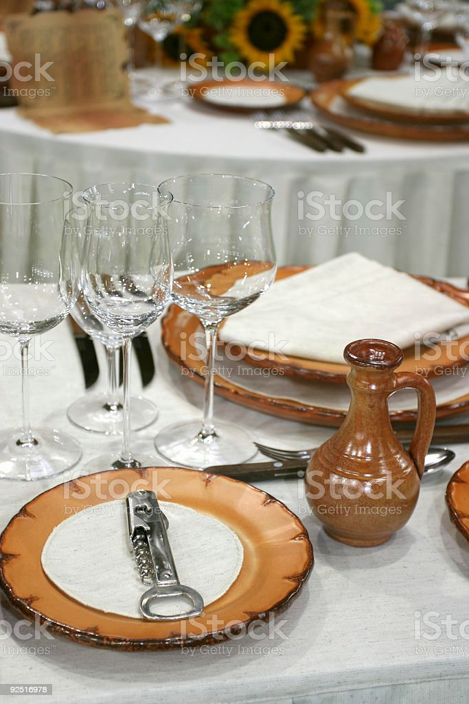 Prepared for  a fest royalty-free stock photo