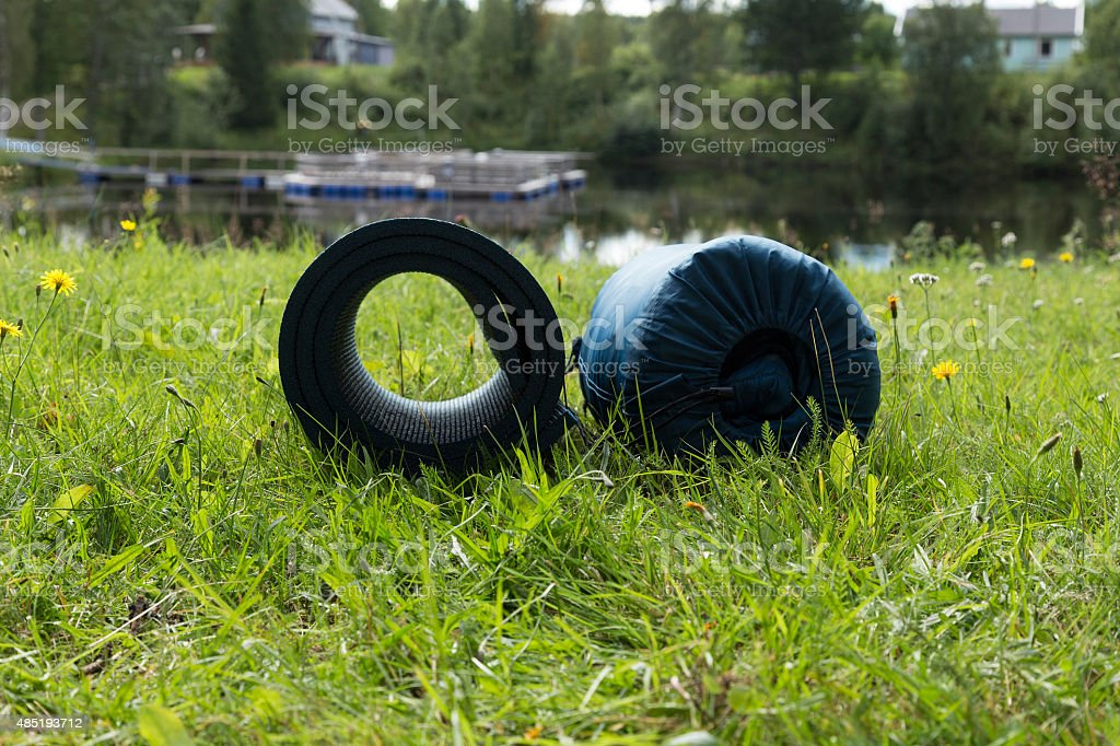 Prepared for a night outdoors royalty-free stock photo